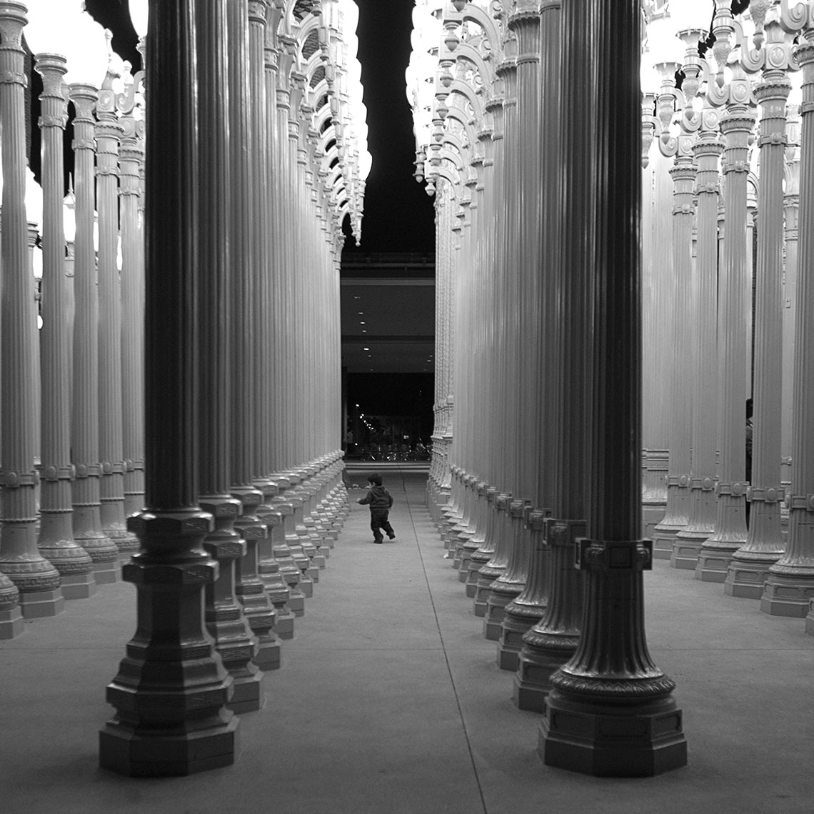 Chris Burden Urban Light LACMA